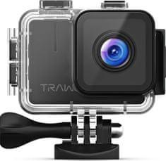 Apeman Odolná digitálna kamera A100 TRAWO, 4K UHD, EIS, WiFi, vodoodolné puzdro do 40 m
