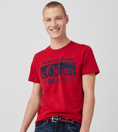 s.Oliver pánské tričko XXL vínová