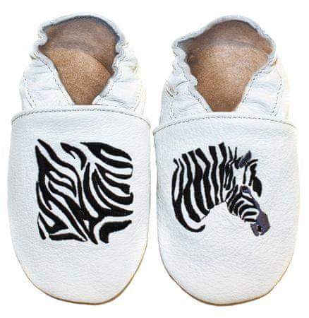 baBice gyerek papucs zebrával 16.5 fehér