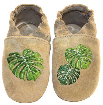 baBice dětské capáčky s palmovými listy 20.5 béžová