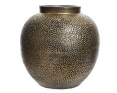 Kaemingk wazon ceramiczny, metaliczny, 25 x 25 cm, ręcznie wykonany, złoty