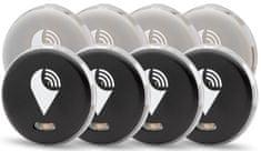 lokalizator TrackR pixel - 8-Pack - 4× czarny + 4× srebrny