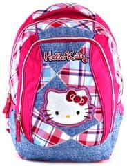 Target szkolny plecak Hello Kitty różowo-niebieska kratka