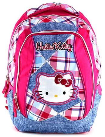 Target Školský batoh Hello Kitty ružovo-modré kocky