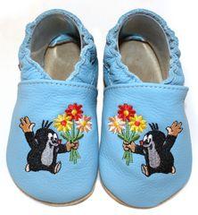 baBice papuče za djecu s Krtekom, svijetlo plave