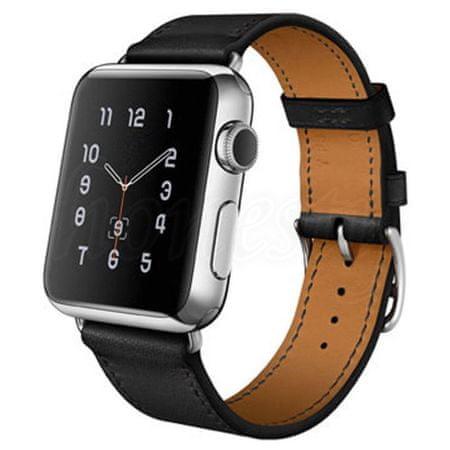 eses športni pašček za apple watch 1530000190, usnjen, 42 mm, črn