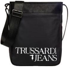 Trussardi Jeans 71B00173-9Y099999 moška crossbody torbica za čez ramena, črna