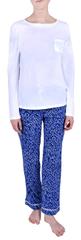 Calvin Klein Dámské pyžamo Pj In A Box White w/layered starburst print QS6141E-YL8