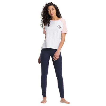 Tommy Hilfiger Női pizsama Valentine Ctn & Cotton Icon ic White / Navy Blaze r UW0UW01345-103 (méret L)