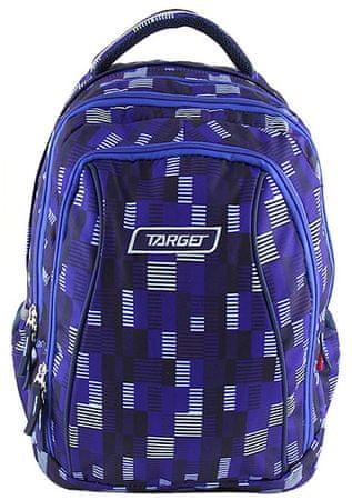 Target plecak szkolny 2w1 ciemnoniebieski z przecinkami