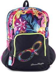 Target Ocean Pacific šolska torba, z rožami, črn