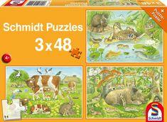 Schmidt 3 Jigsaw Puzzles - Animal Families