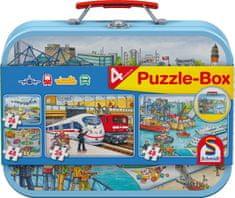 Schmidt 4 Puzzles - Coffret Moyens de Transport