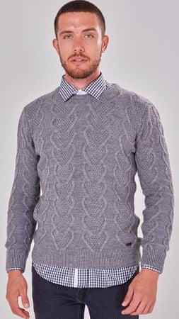 Jimmy Sanders férfi pulóver 18S KM5053, M, szürke