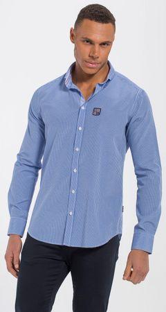 Jimmy Sanders moška majica 18S SHM3050, L, modra