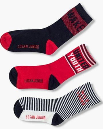 Losan chlapecká sada tří párů ponožek 28 - 32 vícebarevná