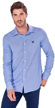AUDEN CAVILL pánská košile AC18F SHM3007 M modrá