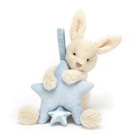 Jellycat zajček star blue musical pull
