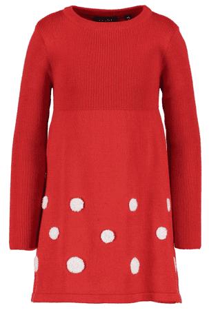 Blue Seven dievčenské šaty s bodkami 104 červené