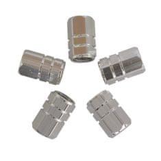 CarPoint pokrovčki ventila Piston, srebrni, 5 kosov