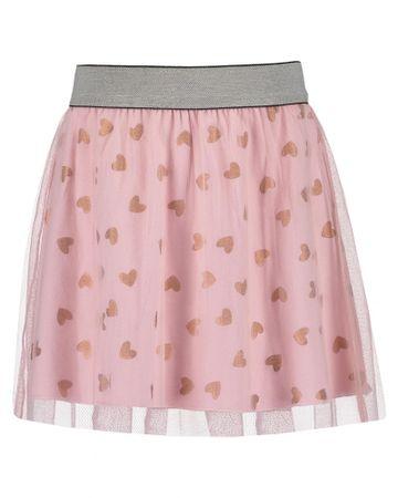 Blue Seven dievčenská sukňa so srdiečkami 92 ružová