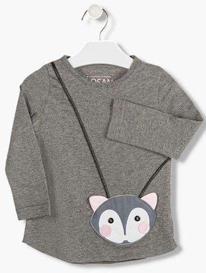 Losan dívčí tričko s kapsičkou 98 šedá