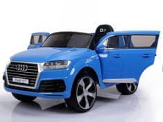 Beneo Elektrické autíčko Audi Q7, modré lakované, EVA kolesá, Jednomiestne sedadlo, 12V, 2,4 GHz DO