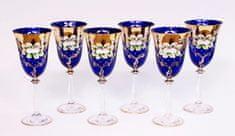 Bohemia Glass Bohemia Glass Sklenice na víno 250 ml - Bílá