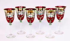 Bohemia Glass Bohemia Glass Poháre na víno 250 ml - Modrá