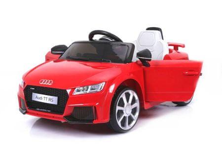 Beneo Elektromos kisautó gyerekeknek Audi TT RS, 12V, 2,4 GHz távirányító, nyitható ajtók, EVA kerekek