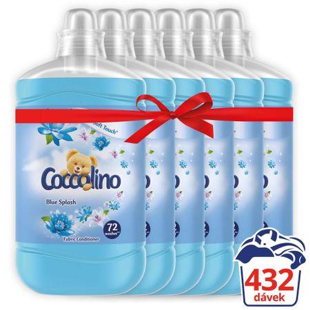 Coccolino Blue Splash mehčalec, 6x 1,8 L