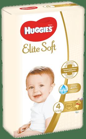 Huggies Elite Soft 4 (8–14kg) 66 ks