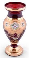 Bohemia Glass Bohemia Glass Váza Srdcovka - Modrá