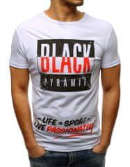 BUĎCHLAP Atraktívne biele tričko BLACK PYRAMID