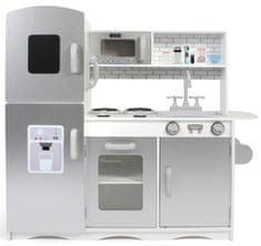 Bayer Chic Drevená kuchynka šedo-biela