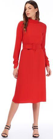 Jimmy Sanders dámske šaty 19W DRW42064 XL červená