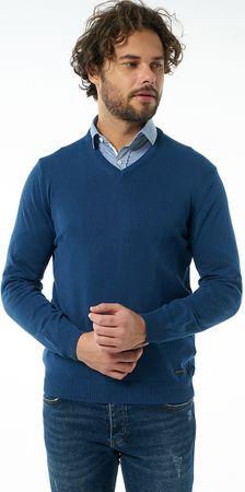 Jimmy Sanders moški pulover 19W KM5064, M, temno moder