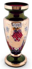 Bohemia Glass Bohemia Glass Váza Panenka 30 cm - Zelená