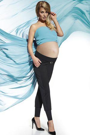 Bas Bleu Těhotenské legíny Catrine, černá, XXL