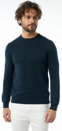 Jimmy Sanders moški pulover 19W KM5064, XXL, temno moder