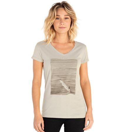 Rip Curl dámské tričko Minimalist Wave V Neck Tee M šedá