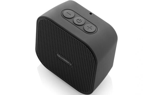 Bluetooth bezdrôtový reproduktor GOGEN bs034 vstavaná nabíjacia batéria 800mAh výdrž 2,5 h podpora mp3 rsguys 3 W výkon
