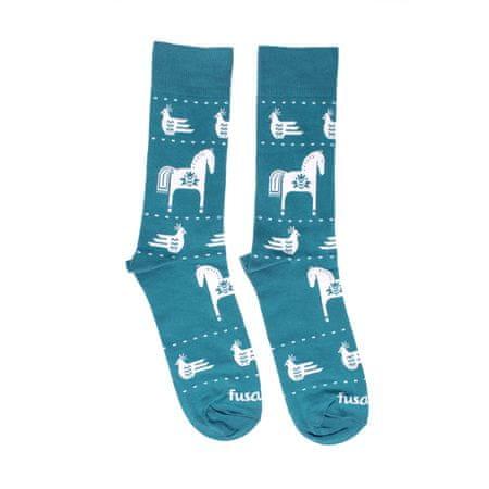 Fusakle Ponožky Modrotlač Koník - 35 - 38