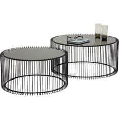 KARE Konferenční stolek Wire Black (2/Set)