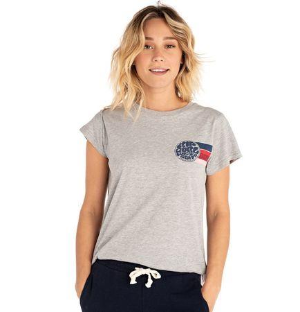 Rip Curl Wetty Stripe Tee ženska majica s kratkim rukavima, siva, S