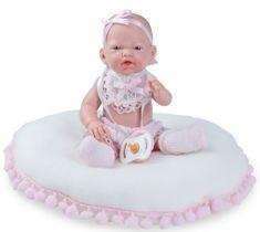 Nines 30240 Mini Golosinas Baby djevojčica na jastuku, 21 cm