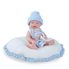 Nines 30241 Mini Golosinas Baby dječak na jastuku, 21 cm