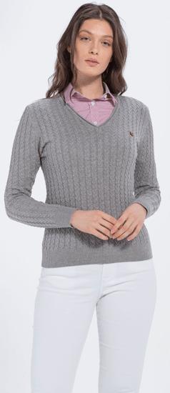 Jimmy Sanders dámský svetr 19W KW6043 L šedá