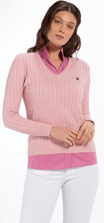 Jimmy Sanders ženski pulover 19W KW6043, XXL, roza