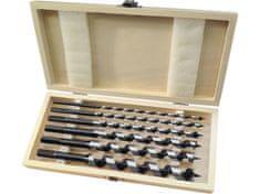 Extol Premium Vrtáky hadovité do dřeva, sada 6ks, šestihranná stopka, v dřevěné kazetě